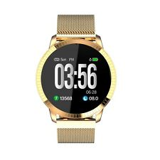Rose Gold Smart Watch for iPhone XR XS Samsung Galaxy S9 10 All Notifications