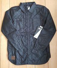 Burton Analog Conduct Shirt Jacket Shacket Black Snap Mens Extra Small XS