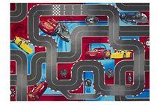 ️ Cars 640019 Tappeto da Pavimento in velluto colore Rosso/grigio Dimension