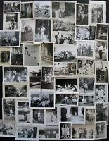 Lot of 47 VTG Snapshots Old Photos 1930s-1960s MEN WOMEN KIDS FAMILY COUPLES