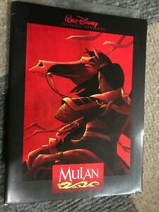 Disney's Mulan Press kit information folder with photos, book