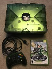 Original Halo Edition Xbox System Console W/ Halo Controller And NFR Game