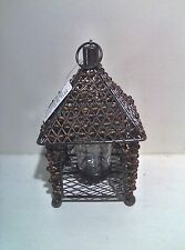 Votive Amber Beaded Candle Holder Lamp ~ New with Tags