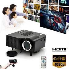 HD 1080P LCD LED Multimedia Mini Projector  Cinema  Home Theater VGA HDMI USB