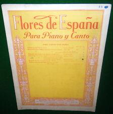 Flores de España Para Piano y Canto LA PALOMA Sheet Music, BOSTON: OLIVER DITSON