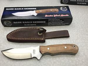 Frost Cutlery 18-301BRPW Dark Eagle Skinner Knife Full Tang Stainless Hunting V4