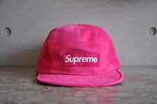 Supreme Suede Box Logo Camp Cap - Magenta Pink