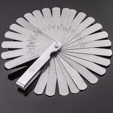 26 BLADE FEELER GAUGE SET Quality Metric & Imperial Measure Valve Lash Hand Tool