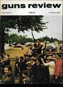 GUNS REVIEW October 1968 - Powder Flasks, Artillery, Pistols, Rifles, Shotguns