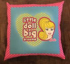 "Beautiful Handmade Retro Barbie Accent - Throw Pillow 15"" x 15"""
