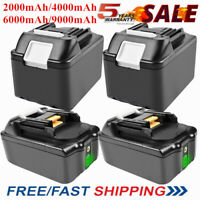 18V 2AH 4.0AH 6.0AH 9.0AH Li-Ion Battery For Makita BL1830 BL1860 LXT400 BL1815