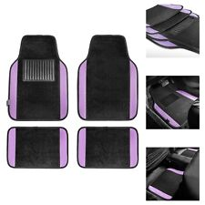 Purple Black Carpet Floor Mats For Auto Car Sedan Suv Van Universal Fitment Fits 2012 Toyota Corolla