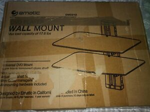 DVD wall mount, EMD 212,color black, temper glass, open box but NEW