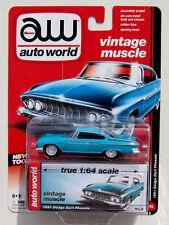 AUTO WORLD 1961 DODGE DART PHOENIX #5 Blue 1:64 VINTAGE MUSCLE RELEASE 1 B