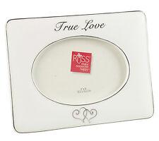 Russ Berrie Wedding White Photo Picture Frame True Love Hearts Anniversary Gift