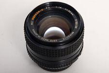 Minolta MC Rokkor-X PG 50mm f1.4 Lens