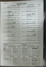 1997 Original Dugout Yankees Lineup Card 9/7 1997 / Orioles Rare DEREK JETER 1/1