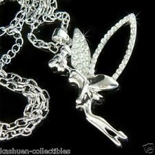 Big w Swarovski Crystal fairy Tinkerbell~ ANGEL PIXIE Pendant Chain Necklace NEW