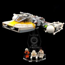 Display Stand Acrylglas Standfuss für LEGO 9495 Gold Leader´s Y-Wing Starfighter