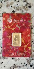 10 Gram Gold Bar Oriana - Perth Mint- (.9999) Fine in Assay
