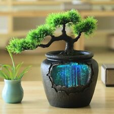 Simulation Plant Water Fountain Decor Desktop Ornament Indoor Home Waterfall New