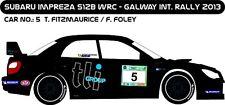 DECALS 1/43 SUBARU IMPREZA WRC - #5 - FITZMAURICE - RALLYE GALWAY 2013 - D43172