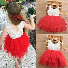 Lace Princess Girls Summer Dress Tutu Birthday Party Dresses Children Clothing