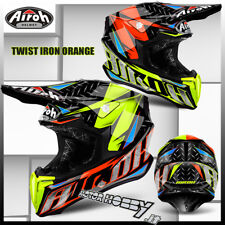 CASCO CROSS ENDURO MOTARD AIROH TWIST IRON ORANGE TAGLIA M (57-58)