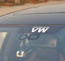 2pcs VW PERFORMANCE car STICKERS / DECALS ( Golf Jetta Passat Corrado )