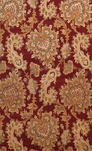 Red Traditional Floral Paisley Oriental Area Rug Hand-Tufted Wool 9x12 Carpet