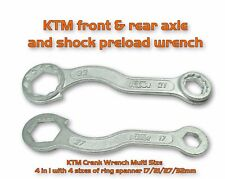 KTM HUSQVARNA SPEC 17 21 27 32 MM AXLE NUT CURVED MULTI WRENCH SHOCK PRELOAD