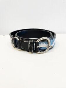 Designer Vivienne Westwood Size 8 to 12 AU Italian Leather Woven Women's Belt
