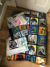 Star Wars Twin Size Bedding Set Comforter Sheet Set Darth Vader Yoda 4 Piece