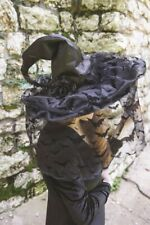Victorian Trading Co Bat's in the Belfry Black Roses Witches Hat with Veil