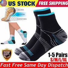 1to5 Pair Compression Socks Plantar Fasciitis Ankle Foot Brace Support Men Women