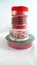 50+ Yards Assorted Red Christmas Ribbon Wreaths Bows Gift Wrap