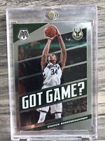 2019-20 Panini Mosaic Giannis Antetokounmpo Got Game Milwaukee Bucks