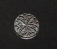 SILPADA - S1832 - Filigree Sterling Silver floral design reversible Pendant