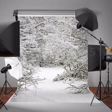 Photo Snow Winter Tree Theme Background Photography Backdrop Studio Props 5x7ft