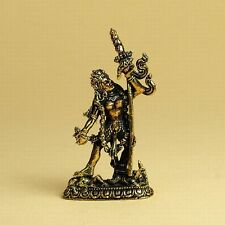 Buddhist Dakini Vajrayogini Statue Metal Miniature Golden Brass Figurine #ZS31