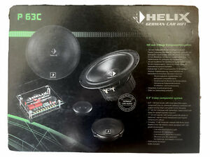 """HELIX P 63C 3-WAY 6.5"""" WOOFERS + 2"""" MIDRANGES + 1"""" TWEETERS HIGH-END QUALITY NEW"""
