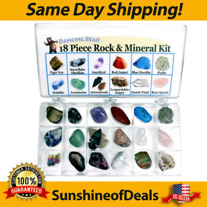 Rock and Mineral Educational Collection & Deluxe Collection Box -18 Pieces NIB!