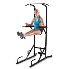 Black Fitness Power Tower Dip Pull/Chin Up Bar Station Home Gym Fitness Exercise