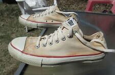 CONVERSE ALL STAR Low Top White Canvas Shoe / Pre-owned / Men 10 / Made in USA