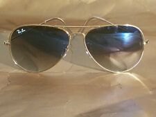 Ray Ban RB3026 62MM Aviator Unisex Sunglasses Gold Frame/Blue & Clear Lens