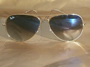 Ray Ban RB3026 62MM Aviator Unisex Sunglasses Gold Frame/ Light Blue Lens