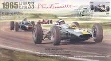 1965b LOTUS 33, BRM P261 FERRARI 158 SILVERSTONE F1 cover signed NINO VACARELLA