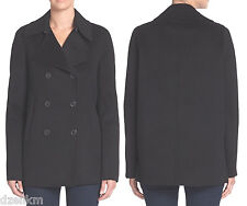 NWT $625 Vince Double Face Wool Blend Peacoat Size L