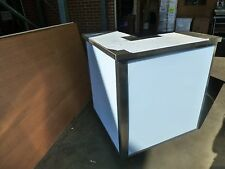 More details for mobile cocktail bar station, stainless steel, corner section