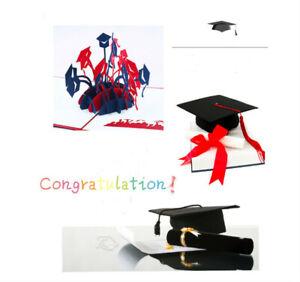 3D Pop up Greeting Graduation Congratulation Card Postcard